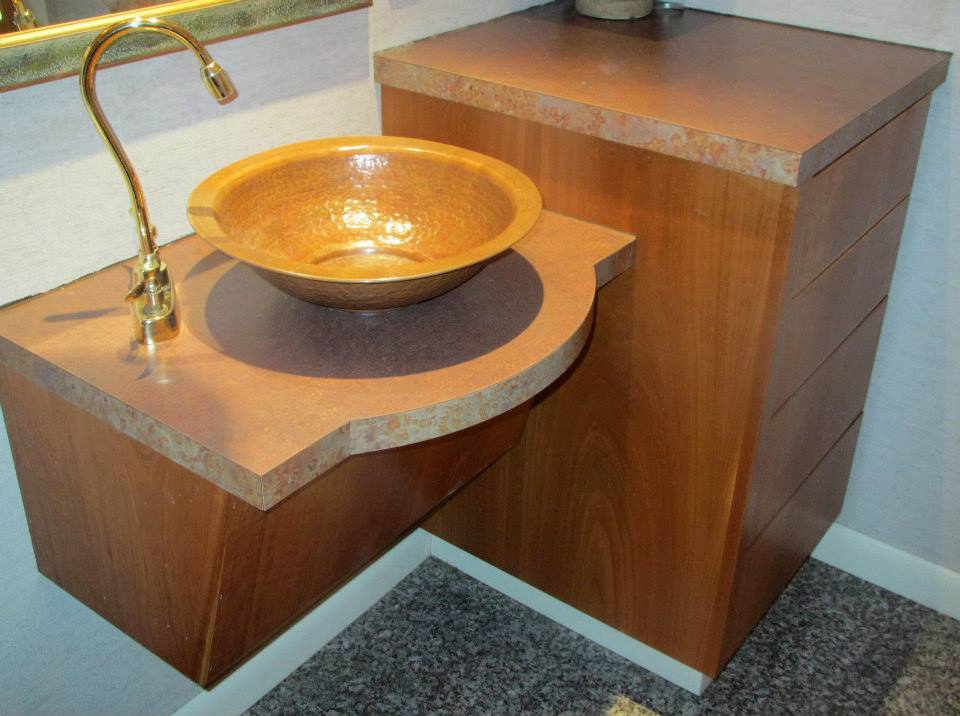 Bathroom counter by Re-Creations Wood Design